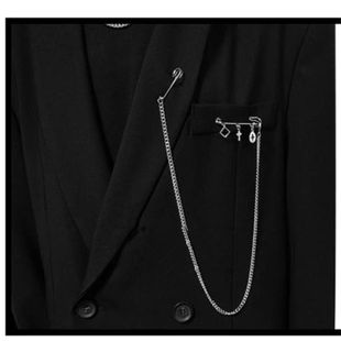 Chain tassel long paragraph pin hip hop cross fashion suit brooch NHYQ179252's discount tags