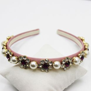 Pearl headband Baroque headband fashion pearl gemstone headband hair accessory NHWJ179288's discount tags