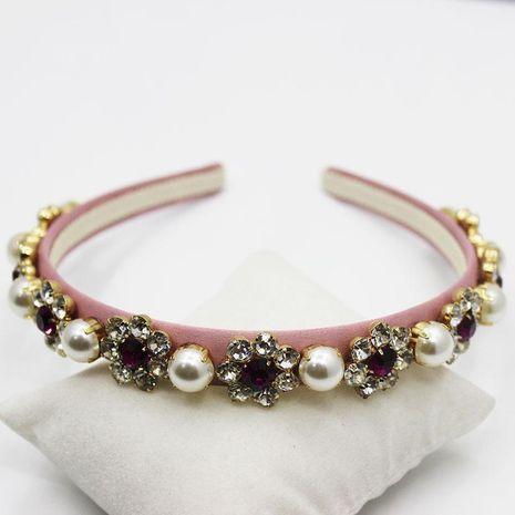 Diadema de perlas Diadema barroca diadema de perlas preciosas accesorios para el cabello NHWJ179288's discount tags