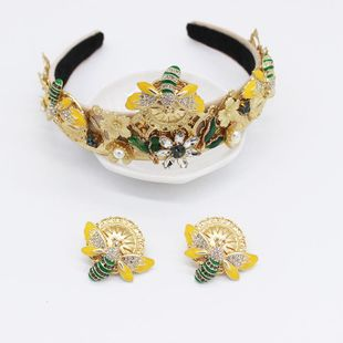 Fashion Baroque Geometric Vintage Luxury Bees Wild Headband NHWJ179316's discount tags