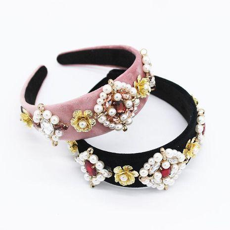 Nueva diadema de perlas nuevas barrocas temperamento de moda diadema geométrica de perlas de hierro a juego de dos colores NHWJ179319's discount tags