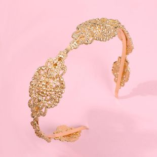 New hair accessories palace retro style alloy carved creative headband NHMD179082's discount tags