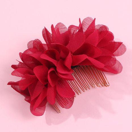 Gasa de moda flor peine para el cabello color sólido novia cabello accesorios para el cabello mujeres al por maypr de moda NHMD179081's discount tags