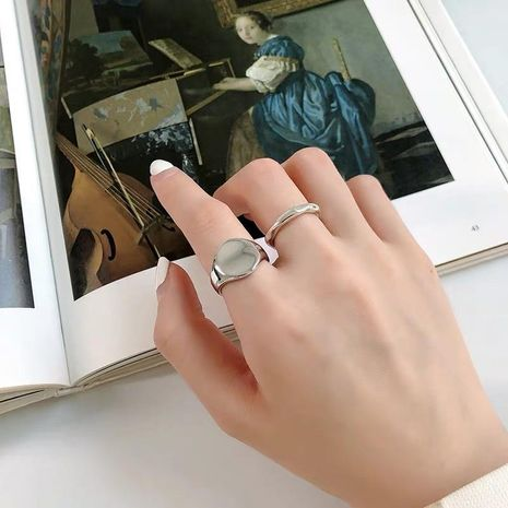 Anillo ajustable minimalista hecho a mano con apertura de nicho de temperamento NHYQ179267's discount tags