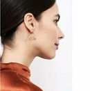 Creative simple and delicate earrings curved snake earrings female NHYQ179261
