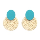 New straw wood earrings high quality earrings NHJJ178993