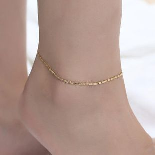 Best selling anklet beach ladies anklet foot metal chain fashion foot bare chain wholesale NHCU179721's discount tags