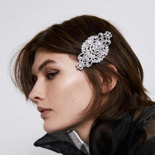 Embellished headband Alloy Diamond Hair Clips Vintage Engraving Cutout Card wholesales fashion NHJQ179590's discount tags