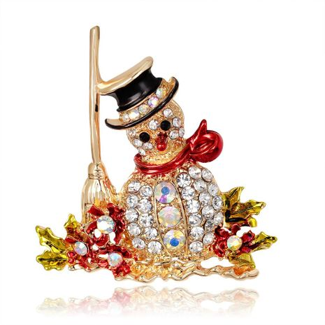 Christmas series jewelry diamond snowman brooch brooch hot new NHDR179479's discount tags