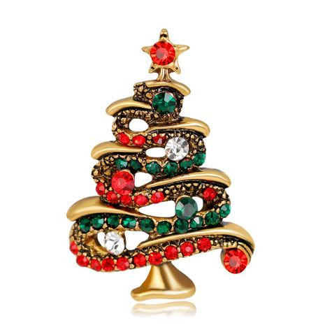 Jewelry fashion rhinestone Christmas tree brooch alloy diamond brooch female NHDR179480's discount tags