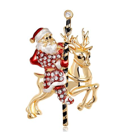 Christmas series ornaments Santa sika deer brooch brooch jewelry wholesale NHDR179481's discount tags
