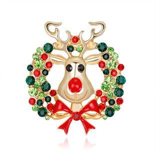 Cartoon Elk Brooch Fashion Alloy Drops Animal Pin Christmas Brooch NHDR179483's discount tags