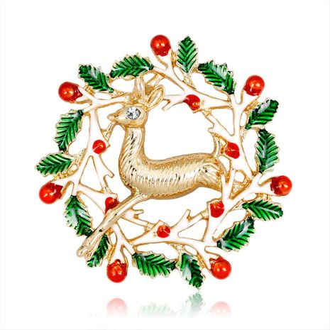 New fashion brooch cartoon Christmas elk brooch NHDR179488's discount tags