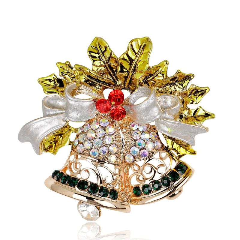 Christmas wild jewelry hot sale bow bell brooch brooch wholesale NHDR179487