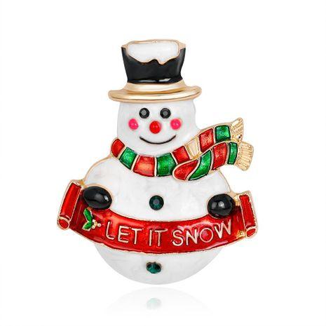Regalo de navidad venta al por mayor venta caliente muñeco de nieve broche aleación gota aceite dibujos animados joyería NHDR179490's discount tags