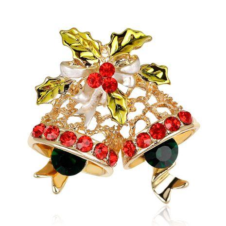 Bijoux de série de Noël KC or plein diamant broche de cloche de Noël en gros NHDR179492's discount tags