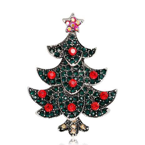 Mode Broche D'arbre De Noël Femmes Exquis Alliage Diamant Placage Or Antique Argent Corsage En Gros NHDR179493's discount tags