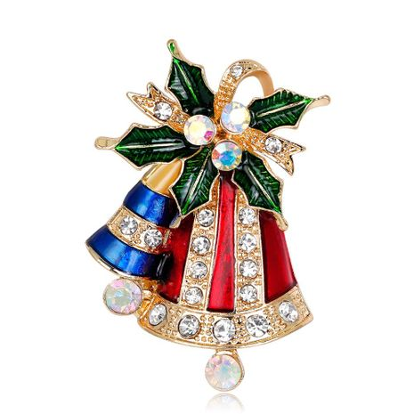 Hot fashion Christmas series brooch cute bell boutonniere NHDR179494's discount tags