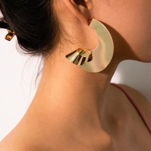 Jewelry fashion twisted earrings female geometry fan mirror spiral earrings NHXR179652's discount tags