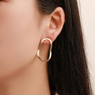 Explosion earrings earrings geometric irregular hollow wave earrings earrings NHCU179720's discount tags