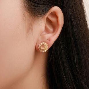 Vintage Sweet Pearl Stud Earrings Small Fragrance Exquisite Opal Earrings NHCU179727's discount tags