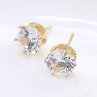 Fashion crown crystal zircon earrings NHCU179747's discount tags