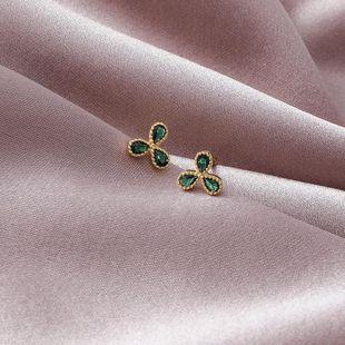 925 silver small flower flash diamond earrings NHMS179662's discount tags