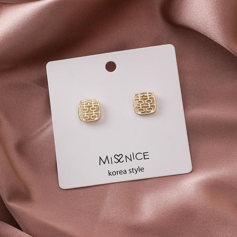 Aretes para mujer recortados pendientes de novia pendientes joyas de mujer NHMS179498