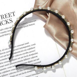 Nuevos accesorios para el cabello con diadema de diamantes de imitación de perlas modelos de explosión sombreros salvajes NHJQ179586's discount tags