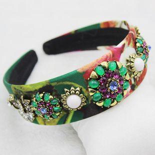 Nueva diadema de flores de perlas de joya de diamantes de moda barroca NHWJ179689's discount tags