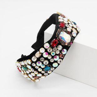 La nueva diadema geométrica de diamantes de imitación de color barroco de baile exagerará la diadema NHWJ179697's discount tags