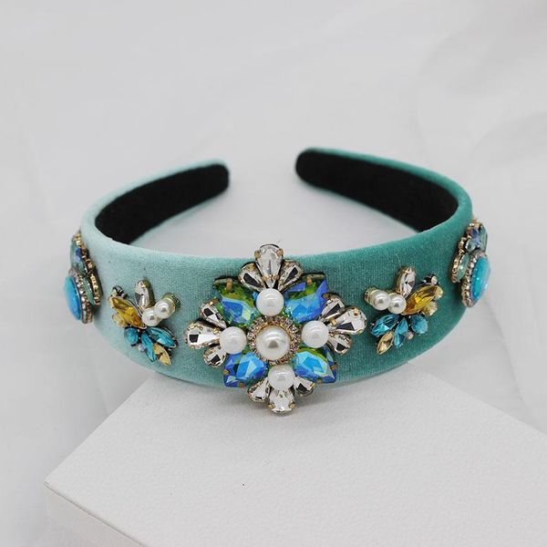 New Baroque fashion luxury diamond geometric headband dance show catwalk headband NHWJ179699