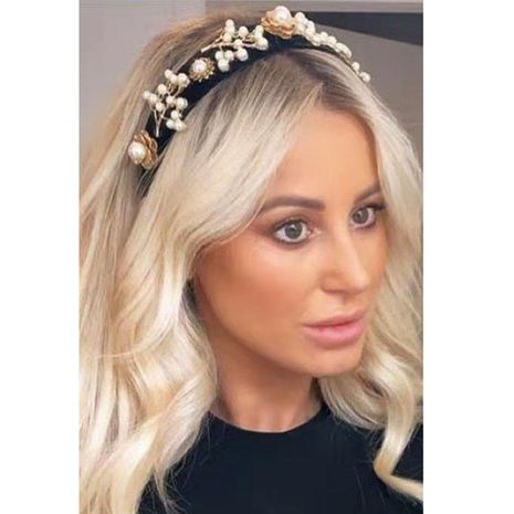 Nueva perla de moda barroca deja diadema geométrica diadema casual NHWJ179702's discount tags