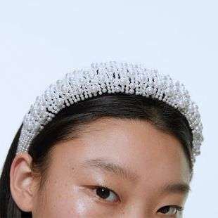 Sponge pearl headband high-grade velvet hair accessories clothing accessories wholesale NHJQ179573's discount tags