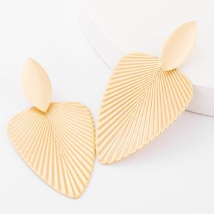 Minimal alloy pattern leaves earrings female wholesales trend NHJE179596's discount tags