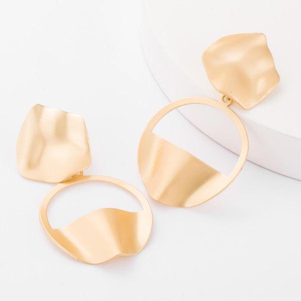 Minimalist Multilayer Alloy Semicircular Cutout Earrings Women's Fashion Stud Earrings NHJE179598