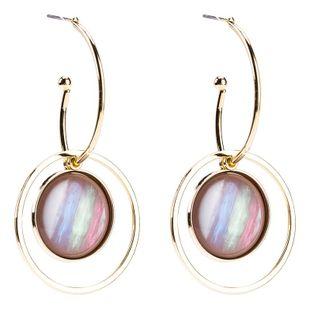 Líneas coloridas aretes para mujer de ojo de serpiente moda femenina pendientes exquisitos personalidad simple NHJE179619's discount tags