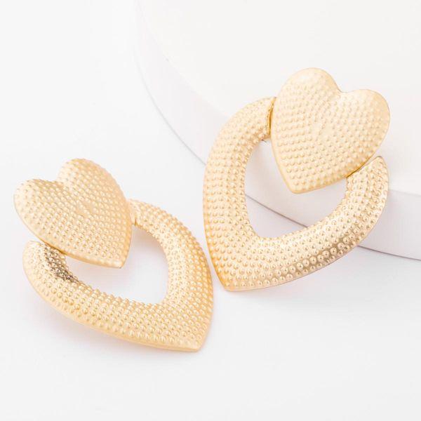 Alloy multi-layer love heart-shaped earrings female retro autumn and winter new earrings earrings NHJE179597