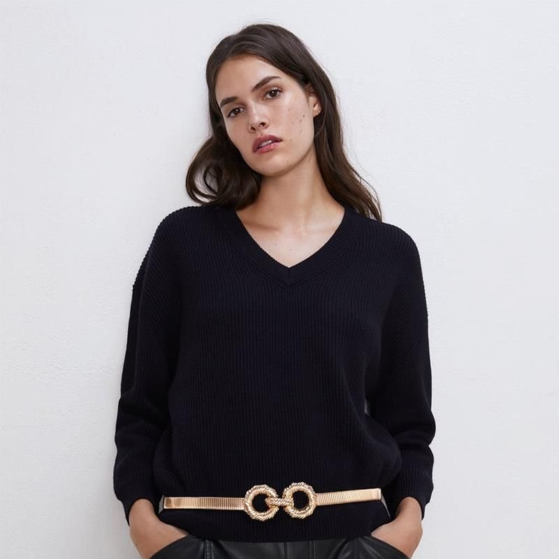 Alloy plating belt exaggerated waist chain fashion belt wholesale NHJQ179576