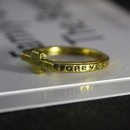 Best selling jewelry ring eternal alphabet ring personality cross ring tail ring little finger ring NHCU179723