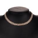 Fashion alloy diamond rhinestone full diamond necklace female fashion fairy necklace clavicle chain NHJE179612