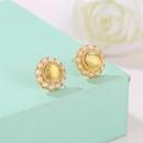 Vintage Sweet Pearl Stud Earrings Small Fragrance Exquisite Opal Earrings NHCU179727