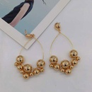 New European and American Baroque style metal ball geometry wild fashion temperament exaggerated long earrings street shooting NHWJ179775