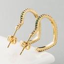 Earrings womens copper microinlaid zircon heartshaped earrings fashion earrings NHLN179624