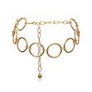 Cadena del cuerpo geomtrico anillo femenino cadena de cintura de fase acrlica al por mayor de moda NHXR179645