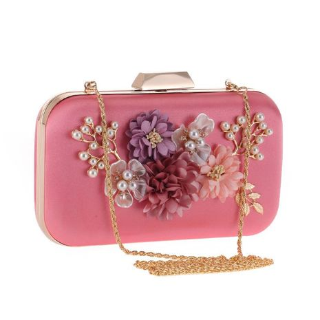 Luxury Rose Flower Korean Women's Flash Evening Package NHYG174738's discount tags