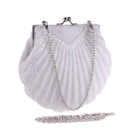 New shell beaded increase crossbody chain polyester evening bag NHYG174739's discount tags
