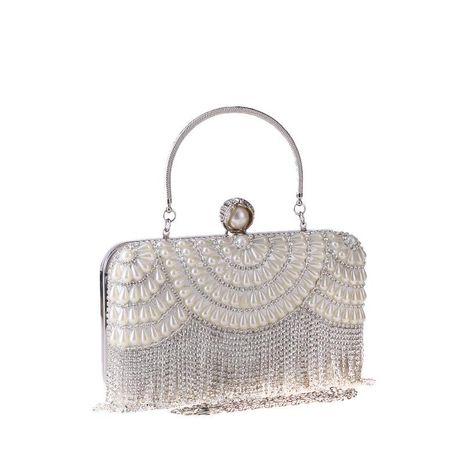 Dinner bag tassel diamond bag Europe and America clutch bag dress bag NHYG174752's discount tags