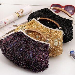Bolso con cuentas, bolso con cuentas hecho a mano, bolso cheongsam NHYG174724's discount tags