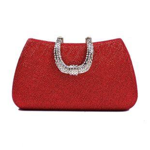 Bolso de fiesta de noche de diamantes con tachuelas calientes bolso de mano de color sólido bolso cuadrado pequeño NHYG174728's discount tags